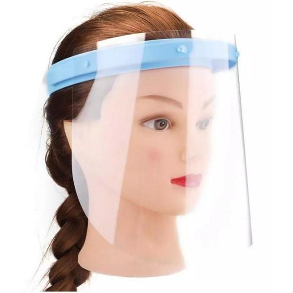 2-Pack - Skyddsvisir - går att vika upp Transparent