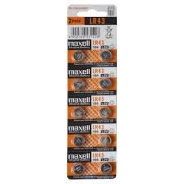 Maxell knappcellsbatteri, LR44, Alkaline, 1,5V, 10-pack Aluminium
