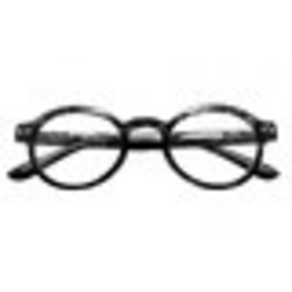 Läsglasögon runda svarta +3,50