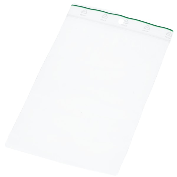 100st Zip Påsar 10x15cm, Blixtlåspåse Transparent