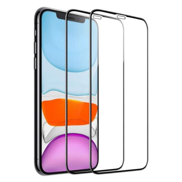2-pack Härdat glas Hel Täckande Skärmskydd iPhone 11 Pro Max