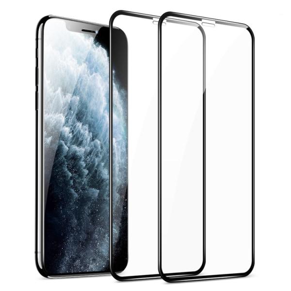 2-pack iPhone 11 Pro Härdat glas Hel Täckande Skärmskydd