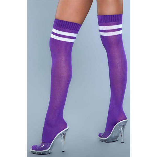 BeWicked Going Pro Thigh High Stockings Purpe One Size one size