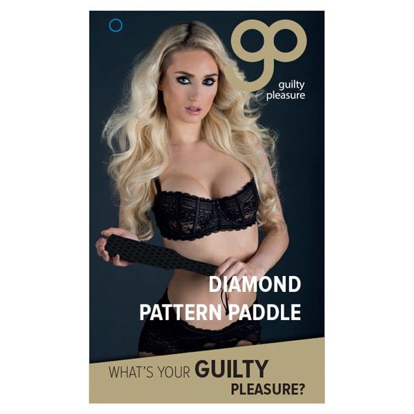 Guilty Pleasure Diamond Pattern Paddle Paddel