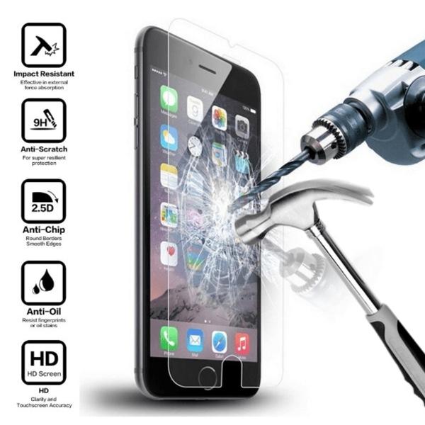 Härdat glasskydd till iPhone 6 & iPhone 7 & iPhone 8 4-pack
