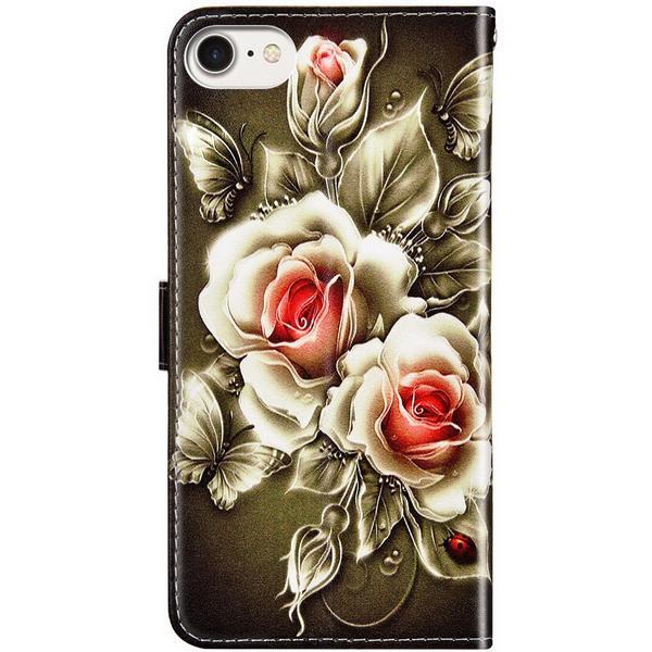 Plånboksfodral Apple iPhone 8 – Rosor