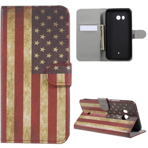 Plånboksfodral HTC U11 - Flagga USA