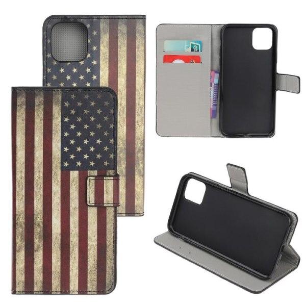 Plånboksfodral iPhone 12 Pro Max - Flagga USA