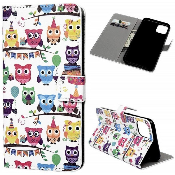 Plånboksfodral iPhone 12 Pro Max - Ugglor På Kalas