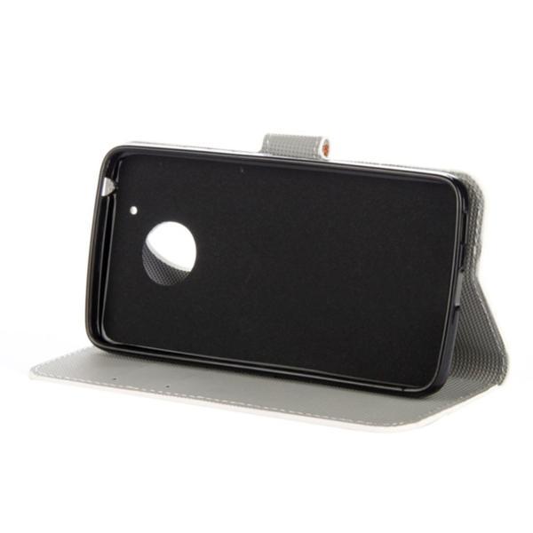 Plånboksfodral Moto G5 - Svart med Fjärilar