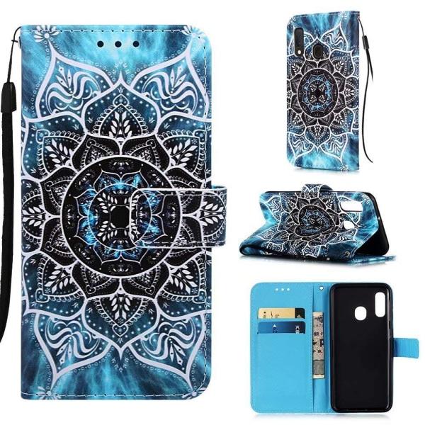 Plånboksfodral Samsung Galaxy A20e – Blå Mandala
