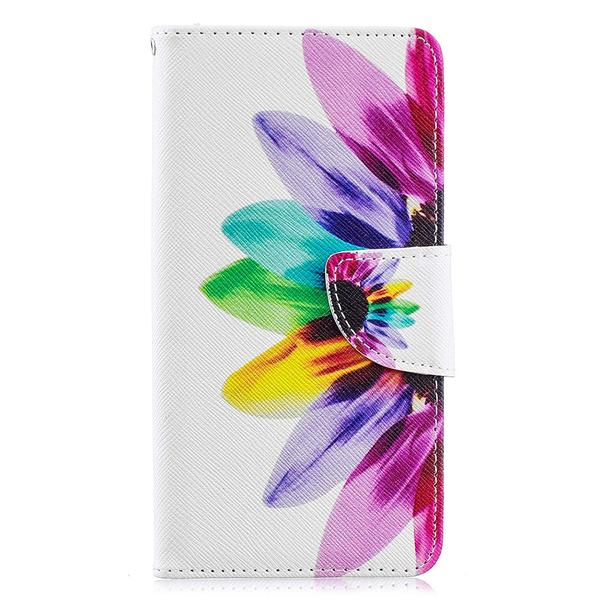 Plånboksfodral Samsung Galaxy A20e – Färgglad Blomma