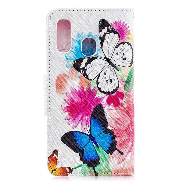Plånboksfodral Samsung Galaxy A20e – Färgglada Fjärilar