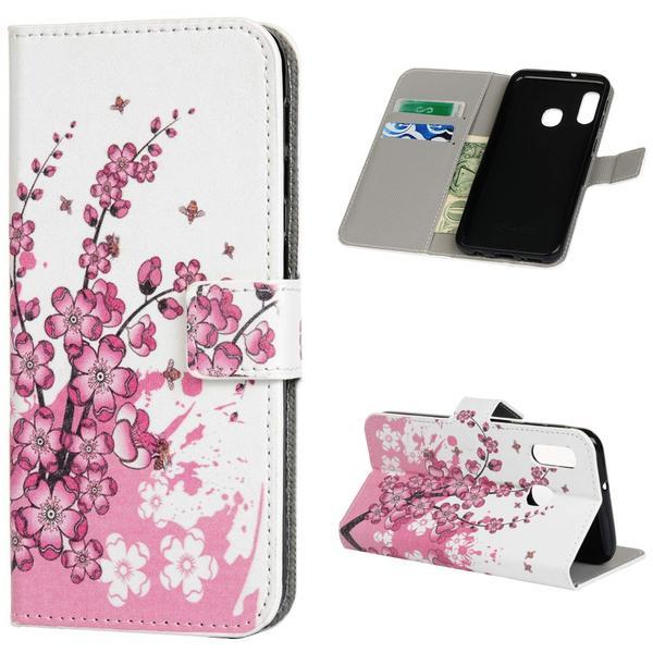 Plånboksfodral Samsung Galaxy A20e - Körsbärsblommor