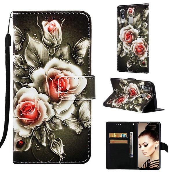 Plånboksfodral Samsung Galaxy A20e – Rosor