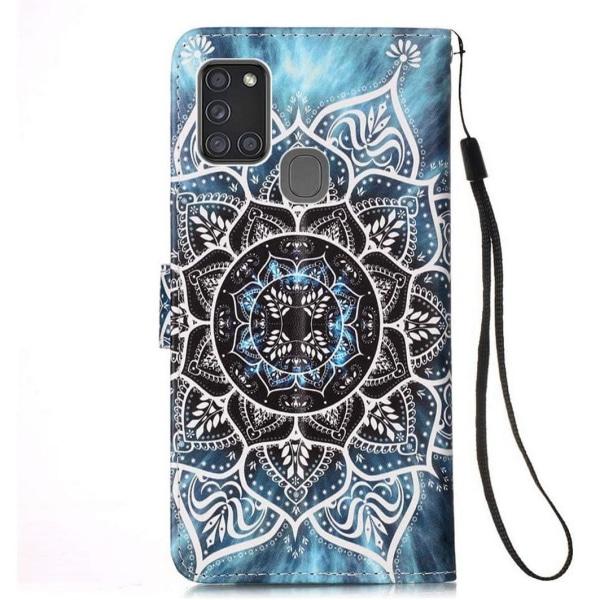 Plånboksfodral Samsung Galaxy A21s – Blå Mandala