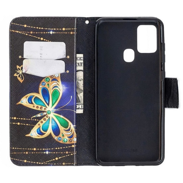 Plånboksfodral Samsung Galaxy A21s – Guldfjäril