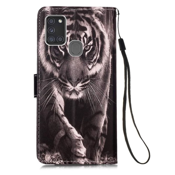 Plånboksfodral Samsung Galaxy A21s – Tiger