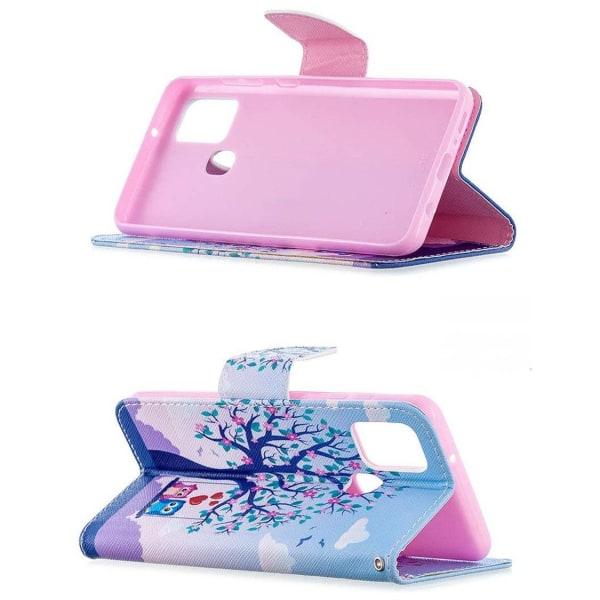 Plånboksfodral Samsung Galaxy A21s – Ugglor på Gunga
