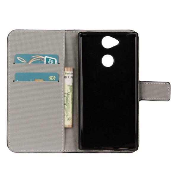 Plånboksfodral Sony Xperia XA2 - Blå Fjäril