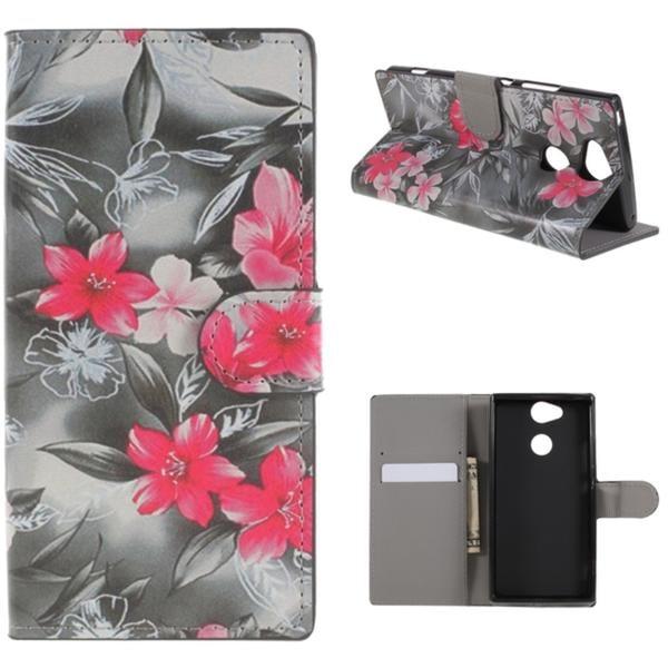 Plånboksfodral Sony Xperia XA2 - Svartvit med Blommor