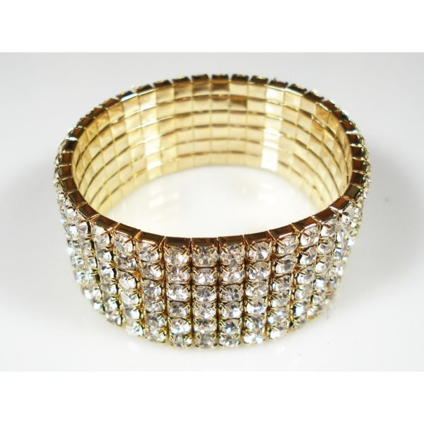 Armband 6rad, Strass Kristaller,