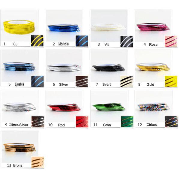 Dekortejp mixade färger [10pack] - Mix