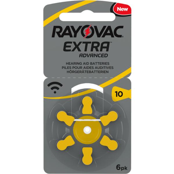 10 Rayovac 1-Pack HörappBatt