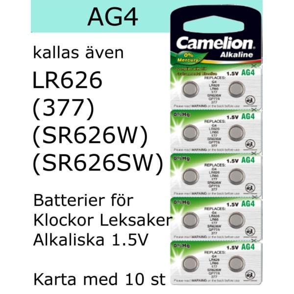 AG4 10-Pack Alk.1,5V Camelion  LR626 ( 377 , SR626SW )