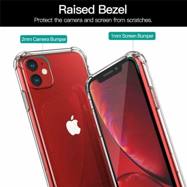 2 Pack iPhone 11 -  Skal / Skydd / Transparent