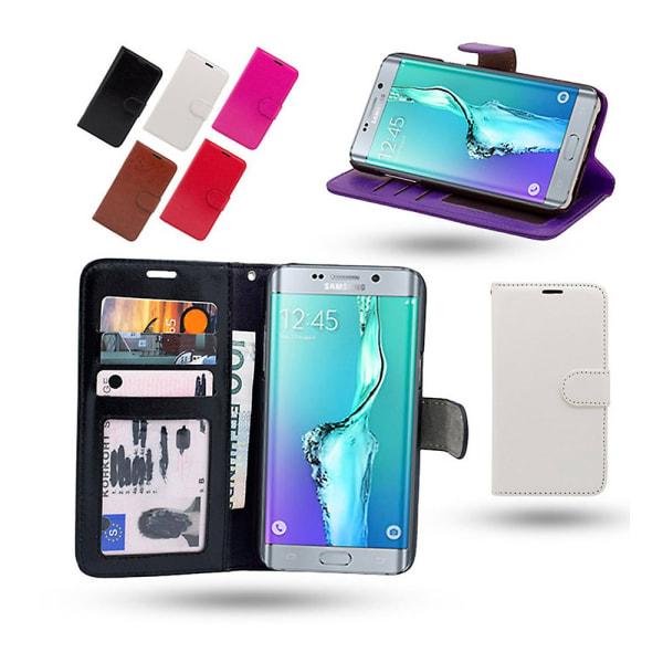 Fodral / Plånbok i Läder - Samsung Galaxy S6 Edge Plus Svart