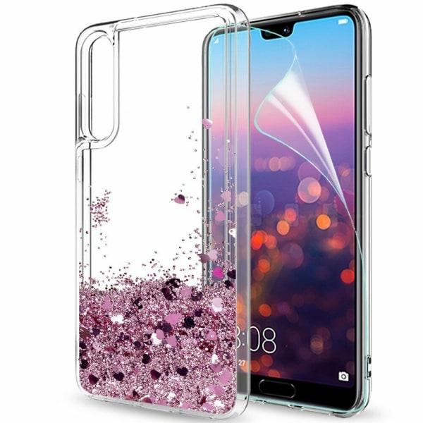 Huawei P20 Pro - Flytande Glitter 3D Bling Skal Case