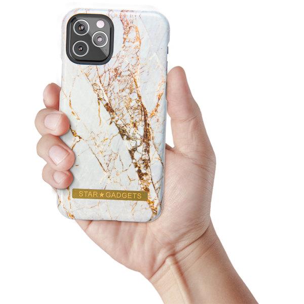 iPhone 11 Pro - Skal / Skydd / Blommor / Marmor Svart