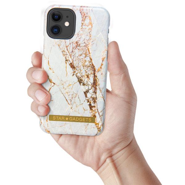 iPhone 11 - Skal / Skydd / Blommor / Marmor Svart