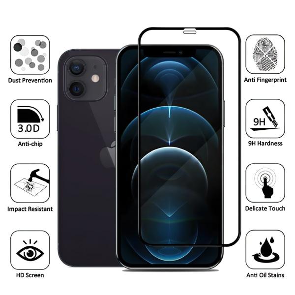 iPhone 12 - Härdat Glas Skärmskydd