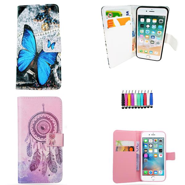 iPhone 5/5s/SE2016 - Läderfodral / Skydd Blå
