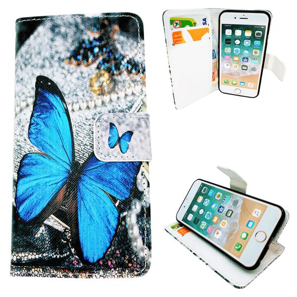 iPhone 6 / 6S - Läderfodral / Skydd Rosa