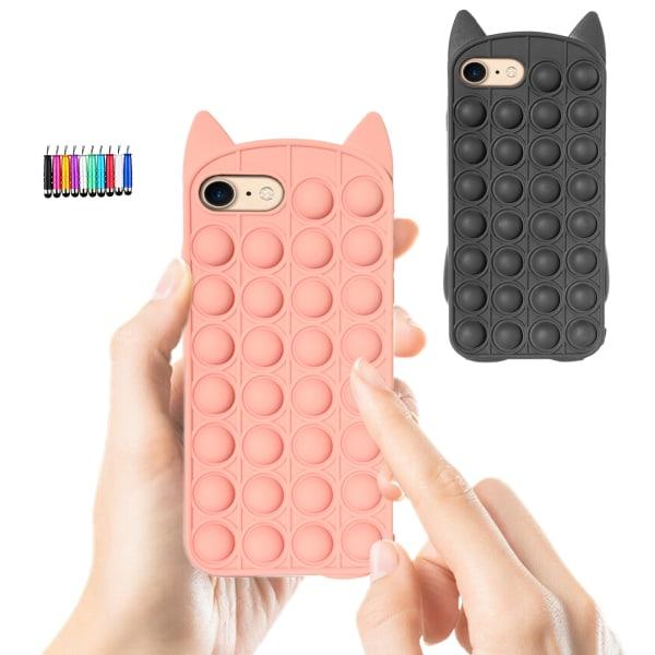 iPhone 6/7 / 8 / SE (2020) - Skydd för fodral Pop It Fidget iPhone 8 Svart