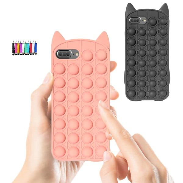 iPhone 6 Plus / 7 Plus / 8 Plus - Fodralskydd Pop It Fidget iPhone 6 Plus Svart