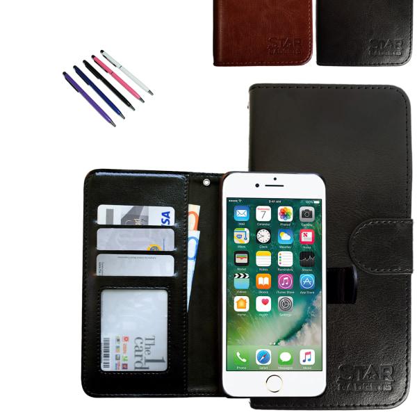 iPhone 7/8/SE (2020) - Läderfodral / Skydd Svart