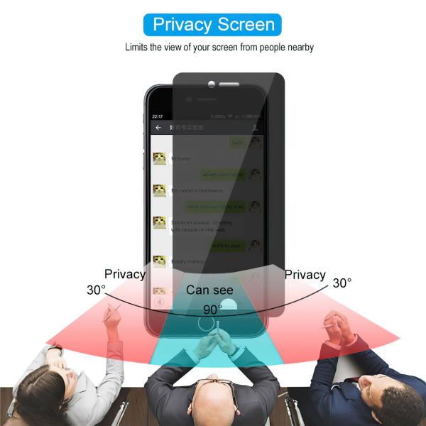 iPhone 7 Plus / 8 Plus - Integritet Härdat Glas Skärmskydd