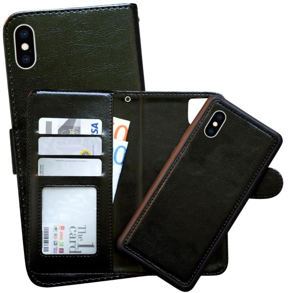 iPhone X/Xs - Plånboksfodral / Magnet Skal Brun
