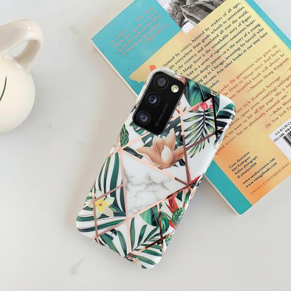 Samsung Galaxy A41 - Skal / Skydd / Geometriskt Vit