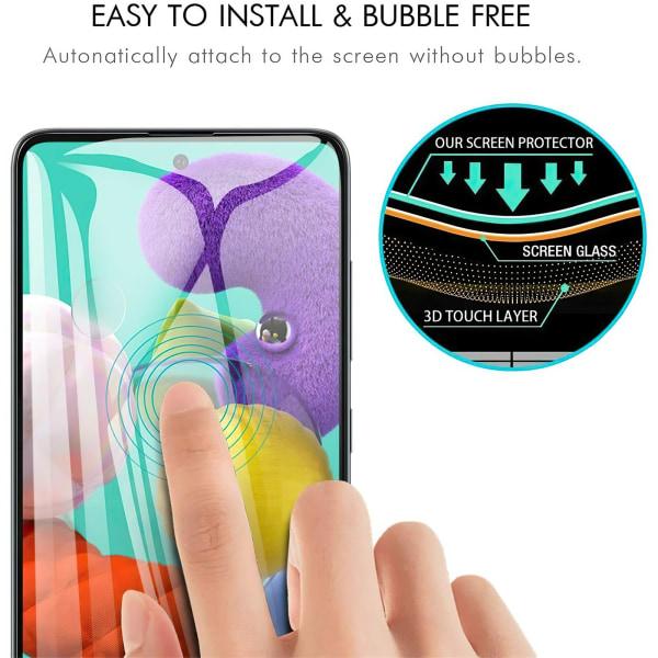 Samsung Galaxy A51 - Härdat Glas Skärmskydd