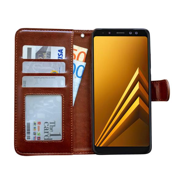 Samsung Galaxy A8 2018 - Läderfodral/Skydd Vit