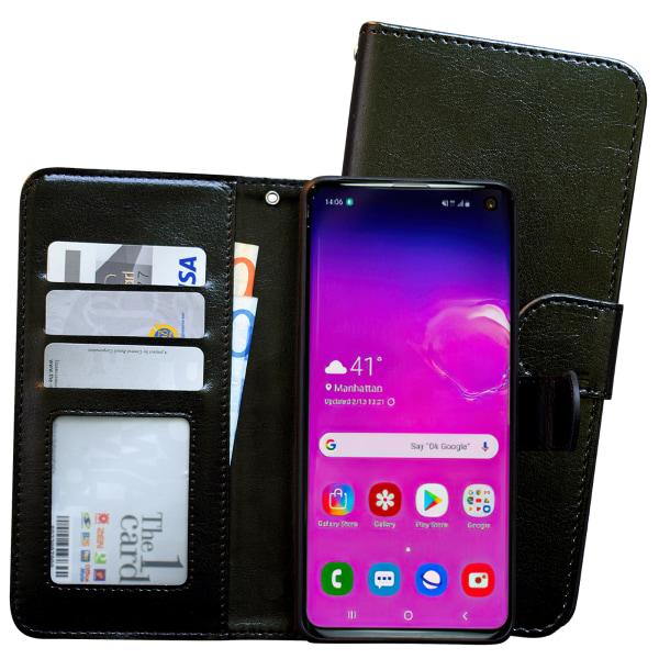 Samsung Galaxy S10 - Läderfodral / Skydd Vit
