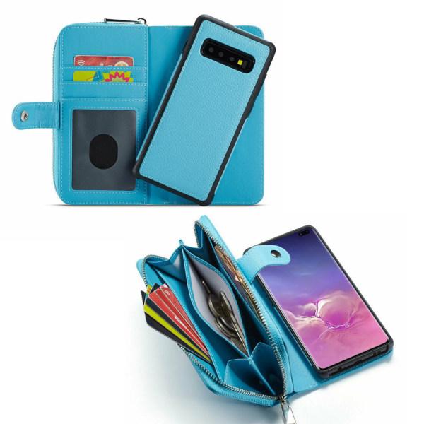 Samsung Galaxy S10 Plus - Läderfodral / Skydd Svart