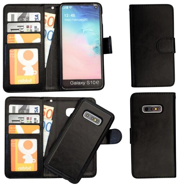 Samsung Galaxy S10e - Läderfodral / Skydd Svart