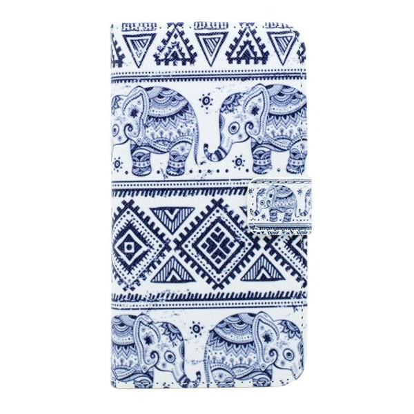 Samsung Galaxy S6 Edge - Läderfodral / Plånbok - Elefanter