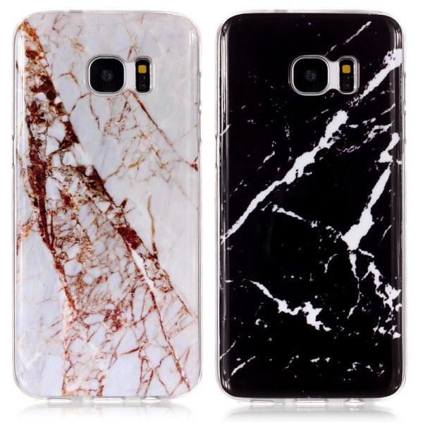 Samsung Galaxy S7 - Skal / Skydd / Marmor Svart
